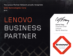 qiq business partner badge lenovo