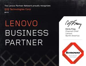 qiq business partner badge lenovo